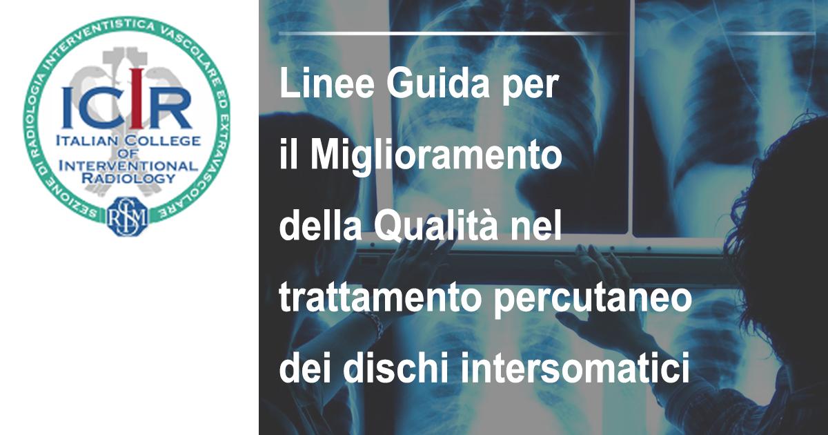 Articolo dell'ICIR - Miglioramneto qualità nel trattamento percutaneo dei dischi intersomatici
